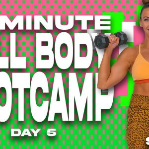 40 Minute Full Body Bootcamp Workout | SHRED - DAY 5