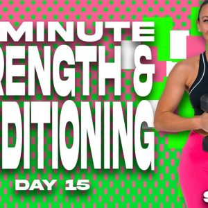 40 Minute Strength and Conditioning Workout | SHRED - DAY 15