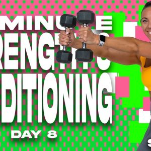 45 Minute Strength and Conditioning Workout | SHRED - DAY 8