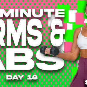 50 Minute Arms and Abs Bootcamp Workout | SHRED - Day 18
