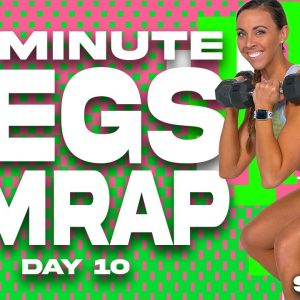 50 Minute Legs AMRAP Workout | SHRED - DAY 10