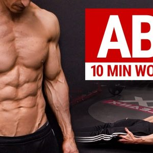 10 MIN AB WORKOUT // 6 PACK ABS // No Equipment | ATHLEAN X