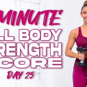 60 Minute Full Body Strength & Core Workout | Summertime Fine 3.0 - Day 25