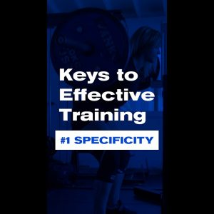Keys to Effective Training | #1 Specificity #shorts