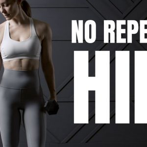 NO REPEAT HIIT Workout // with dumbbells