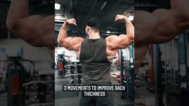 3 Movements To Improve Back Thickness 💪🏻