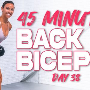 45 Minute Back & Biceps Workout | Summertime Fine 3.0 - Day 38