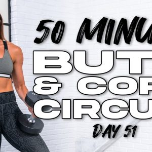 50 Minute Butt & Core Circuit Workout | Summertime Fine 3.0 - Day 51