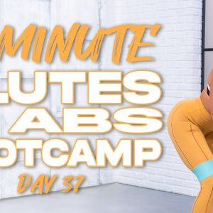 50 Minute Glutes and Abs Bootcamp Workout | Summertime Fine 3.0 - Day 37