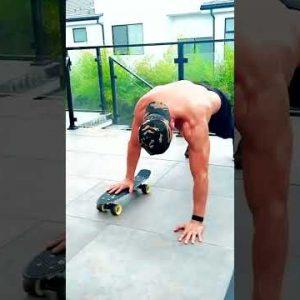 Calisthenics Workout with Skateboard