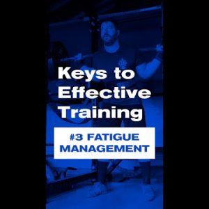 Keys to Effective Training | #3 Fatigue Management #shorts