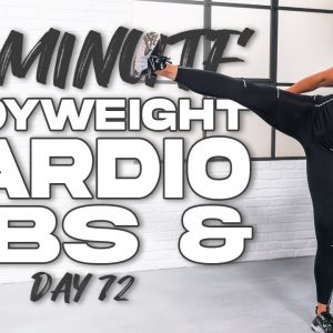 40 Minute NO EQUIPMENT Abs and Cardio Workout | Summertime Fine 3.0 - Day 72