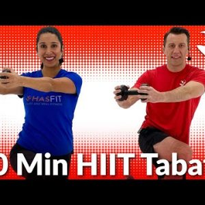 Full Body HIIT Tabata Workout 30 Minutes - Tabata HIIT Workout with Weights at Home