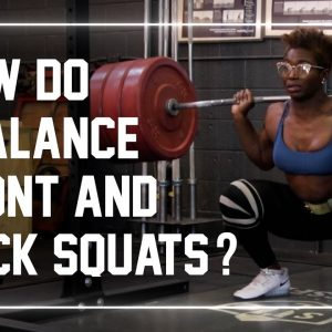 How Should Weightlifters Balance Front Squat and Back Squats? #shorts