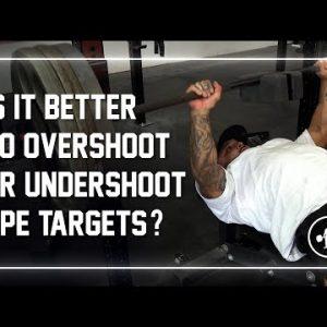 Is It Better To Overshoot or Undershoot RPE? #Shorts