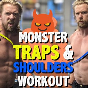 We Demolished Our TRAPS and SHOULDERS with this WORKOUT (Perform at GYM or HOME!)