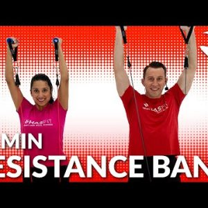 30 Min Full Body Resistance Band Workout - Exercise Band Workouts for Arms, Legs, Chest, Back, Abs