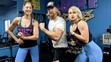 2 Girls, 1 Dude | 20 Min Bodyweight FULL BODY CIRCUIT WORKOUT!!