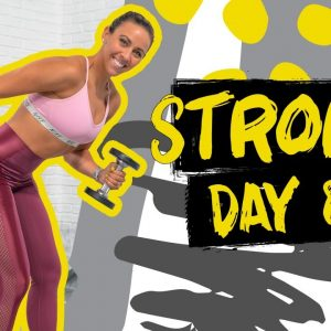 50 Minute Arms & Abs Push Workout | STRONG - Day 8