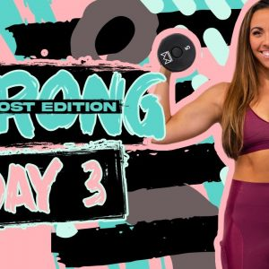 40 Minute Lower Abs, Arms, & Cardio | STRONG {BOOST] - Day 3
