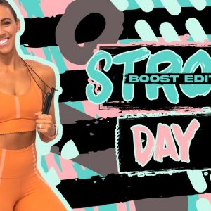 45 Minute Glutes Sculpt & Jump Rope Finisher | STRONG [BOOST] Day 4