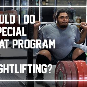 Should Weightlifters Use A Special Squat Program? #shorts